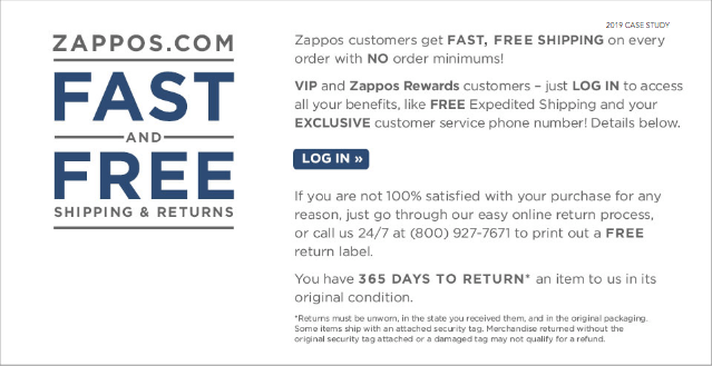 Zappos Fast and Free